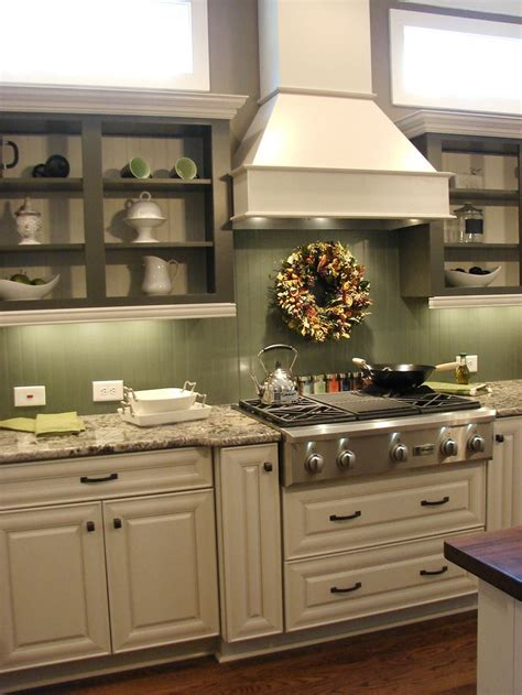 green painted kitchen cabinets with bead board backsplash beadboard backsplash in a high gloss paint either white