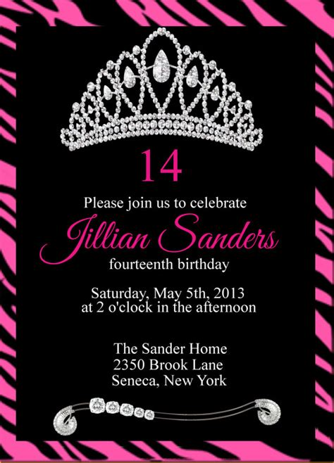 printable princess crown birthday party by