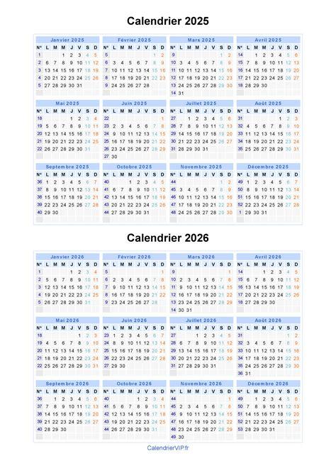 Calendario De 2025 Calendrier 2025 2026 224 Imprimer Gratuit En Pdf Et Excel