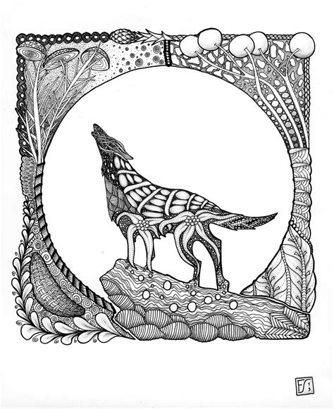 animal templates for zentangle zentangle adult coloring pages printable for wolf coloring