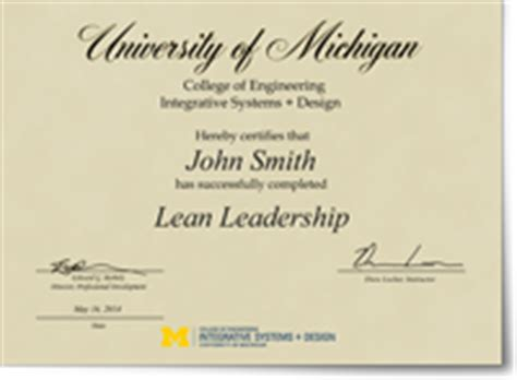 Michigan Sustainability Mba by Lean Leadership Of Michigan Professional Education