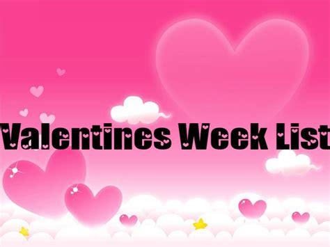 valentines list seven days of valentines week 2017 photo album
