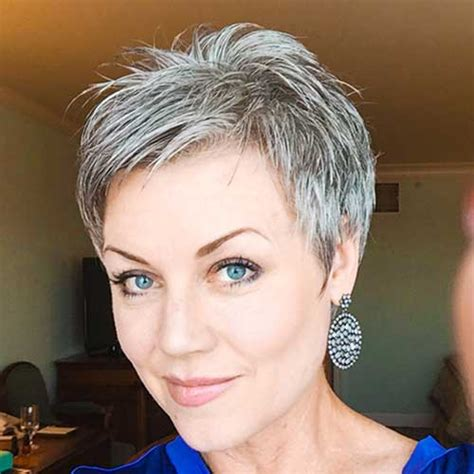 short cuts for grey thin hair best short haircuts for older women in 2018 hairiz