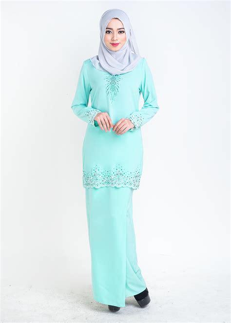 Baju Kurung Moden Warna Biru Turquoise baju kurung moden lace sophea mint green