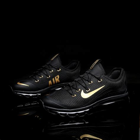 selling running shoes selling nike air max 2017 black gold trainers s