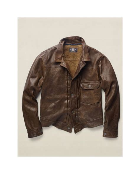 Leather Jaket Edition 102 rrl limited edition leather jacket in brown for brown save 38 lyst