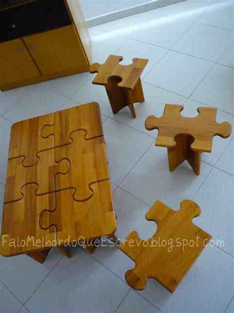 diy puzzle coffee side tables    fun ideas