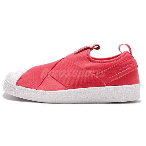 adidas originals superstar slip on w pink white womens casual shoes bb2118 ebay