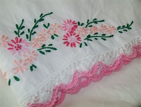 Embroidered Pillow Cases by 17 Best Ideas About Embroidered Pillowcases On
