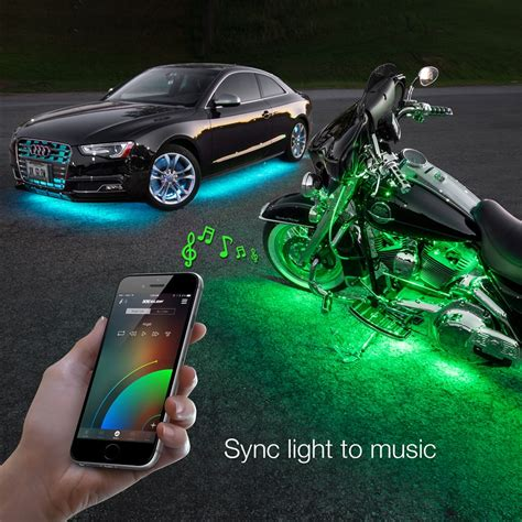 led accent lights for cars 6pc car interior neon underglow accent light kit
