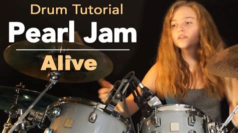 drum tutorial com pearl jam alive drum tutorial by sina youtube