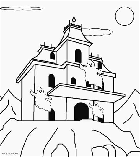 haunted house for kids printable haunted house coloring pages for kids cool2bkids