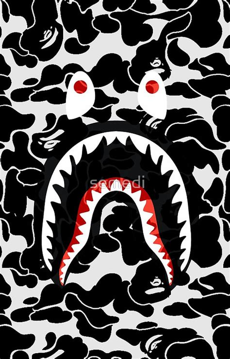 Bape Shark Camo shark black bape camo wallpaper bape