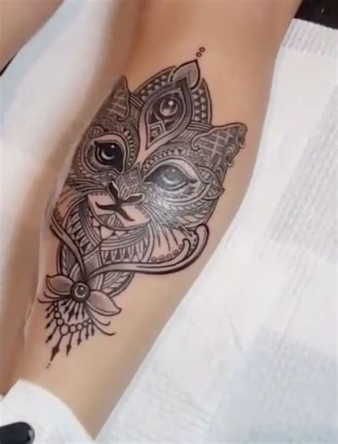 cat face tattoo 55 most impressive mosaic tattoos golfian