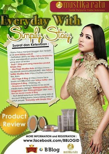Pelembab Dan Alas Bedak Mustika Ratu tyas arini everyday with simply stay project by mustika