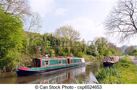 clipart canal boat stock photos of green canal boat a green narrowboat on