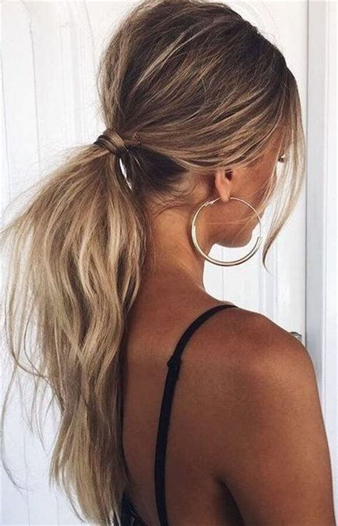 Low Ponytail Hairstyles tousled low ponytail the coolest ponytail hairstyles