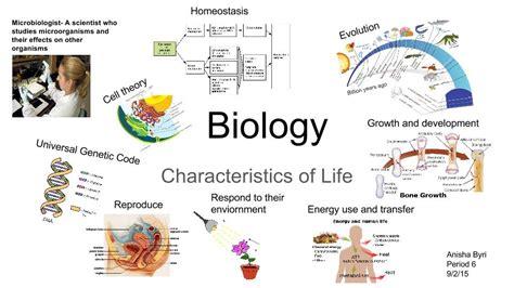characteristics about biography shs biology anisha byri characteristics of life