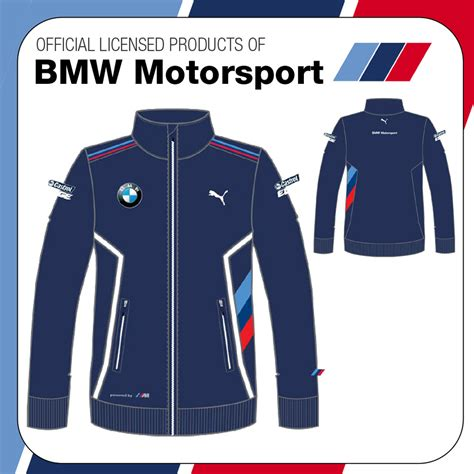 Zippersweater Bwm Power new official 2015 bmw motorsport m sport mens jacket zip sweater ebay