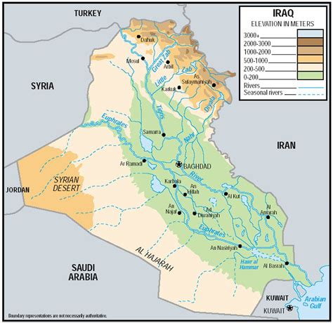 map of iraq rivers wyhs human geography islamic