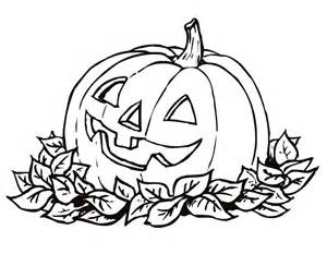 printable pumkin and leaf coloring page from freshcoloring com