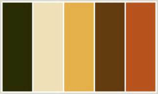 what color is sepia colorcombo386 with hex colors 2a2c05 efe0b9 e4b04a