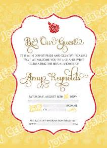 or and the beast bridal shower invitation and the beast and