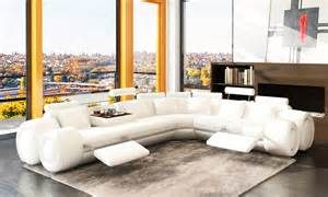 deco in canape d angle cuir design blanc