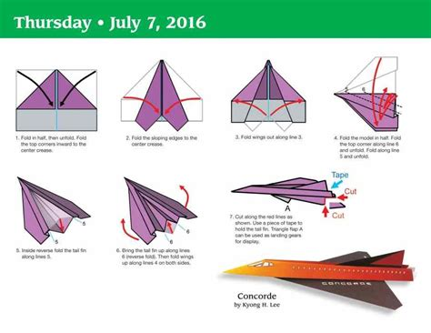 How To Fold Paper Airplanes Step By Step - paper airplane fold a day 2016 boxed page a day calendar