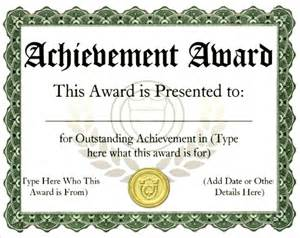 School Award Certificate Template Sample