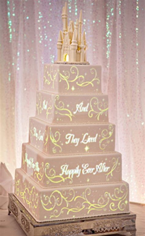 Disney Wedding Cake by These Disney Fairytale Wedding Cakes Come With Their Own