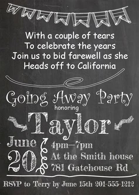 Going Away Party Invitations New Selections 2017 Going Away Invitation Template Free