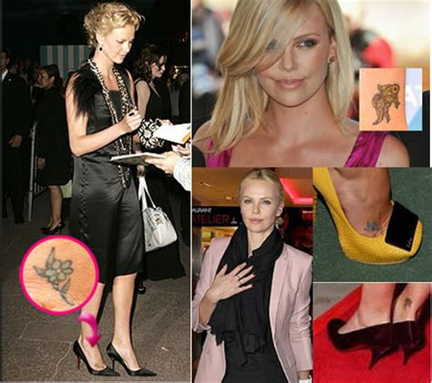 charlize theron tattoo 14 world who tattoos unique and its