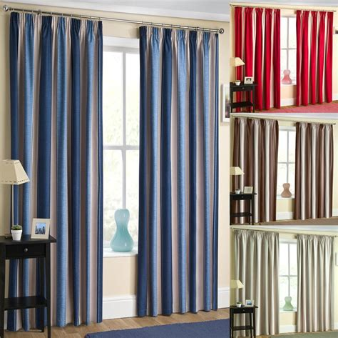 Striped Blackout Curtains Dixie Thermal Blackout Curtains Top Two Tone Striped Curtains Ebay