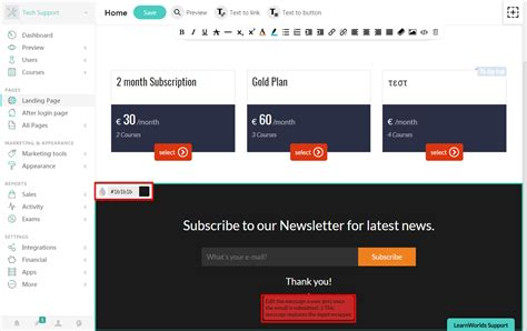 add on templates for pages how to use pages builder add newsletter template