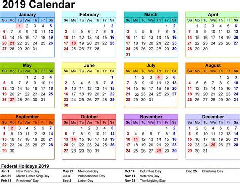 Free Printable Calendar 2019 Templates 2019 Printable Calendar Templates Free Free Calendar Template 2019