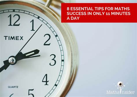 Maths Essentials For Mba Success by 8 Essential Tips For Maths Success In Only 11 Minutes A