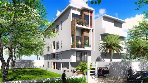 4 story house sketchup 4 story narrow house design 4 4x20m sam architect