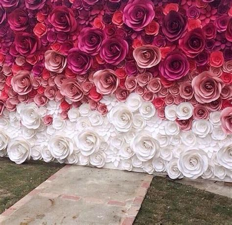 How Can We Make Flowers From Paper - unique paper roses can be used for unique wedding