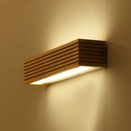 modern japanese style led l oak wooden wall l lights