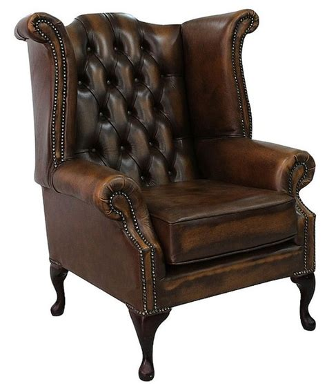 High Back Chesterfield Sofa Leather antique chesterfield wing chair designersofas4u