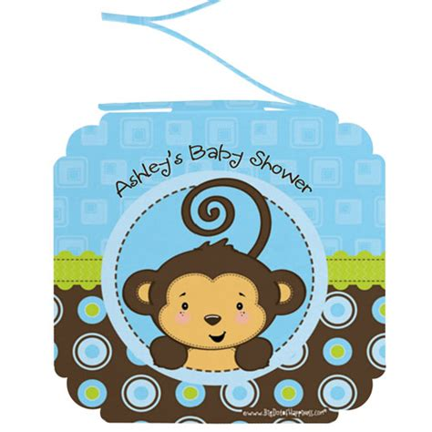 Monkey Boy Baby Shower Decorations monkey boy 6 baby shower hanging decorations baby