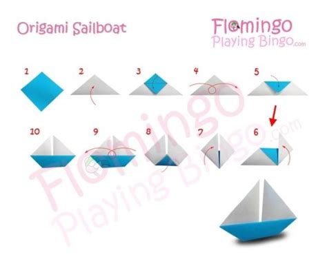 Origami Catamaran - how fold step by step origami sailboat madera
