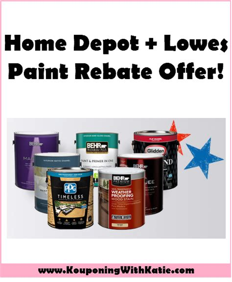 awesome home depot or lowes paint rebate offer