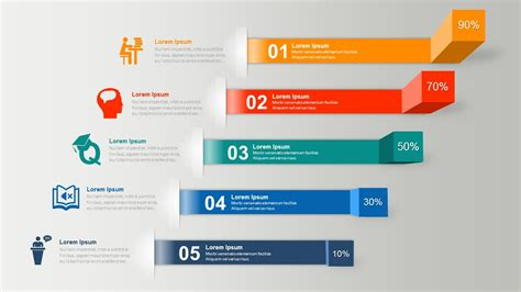 powerpoint infographic template horizontal shelves powerpoint infographics