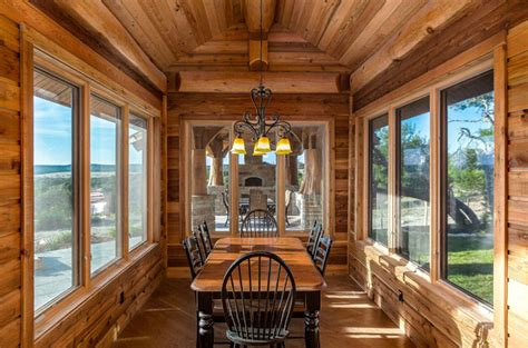 beautiful log cabin dining rooms beautiful log cabin dining room ideas full home living
