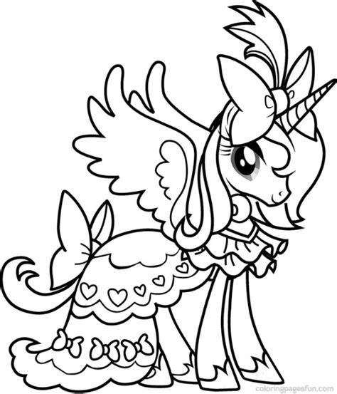 my little pony birthday coloring page princess cadence from my little pony coloring pages
