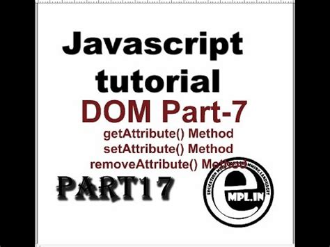 javascript tutorial hindi javascript tutorial in hindi part 17 dom 7 html elements