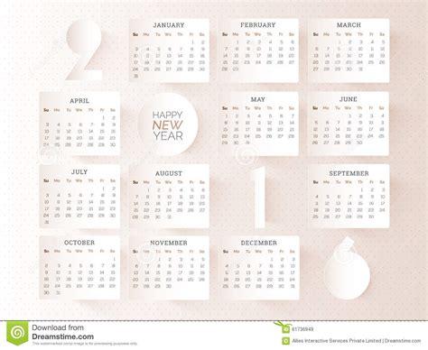 calendar design for new year stylish yearly 2016 calendar design stock illustration
