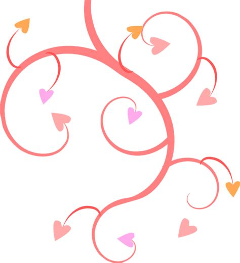 heart vine pattern free vector graphic pink vines hearts shapes free